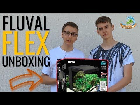 💢 MODISCHES, GEBOGENES AQUARIUM    FLUVAL FLEX 57 lProduktunboxing [FHD]