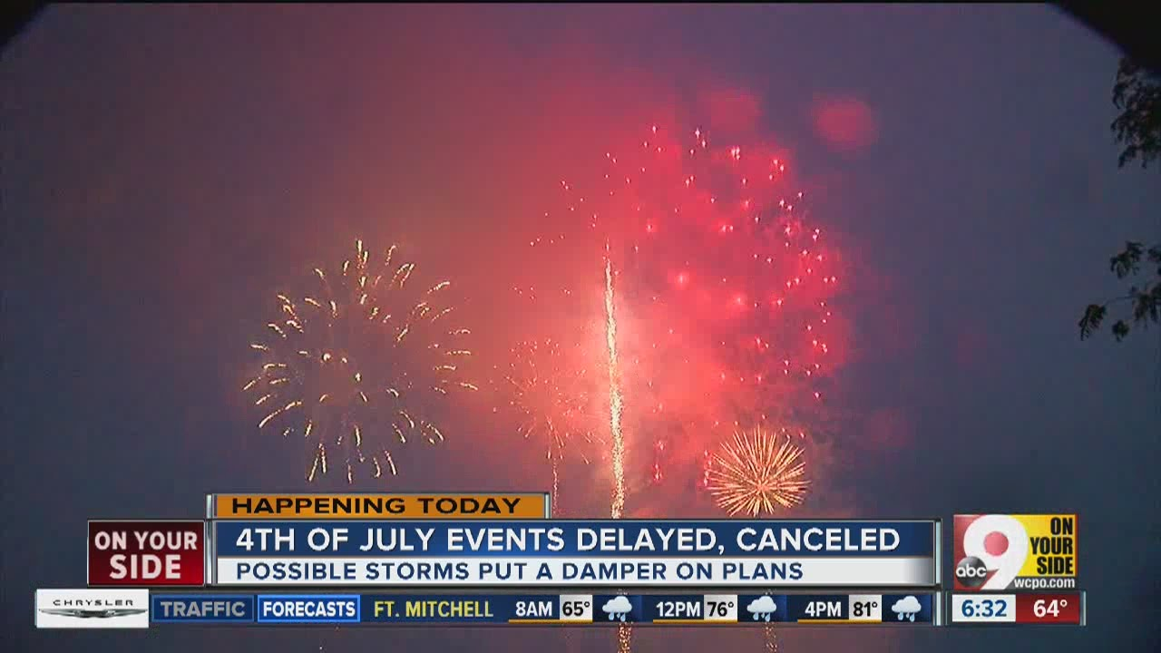 Storms delay Red, White & Boom parade but fireworks still planned for 10 pm