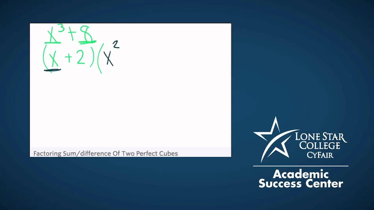 factoring sum  difference of two perfect cubes
