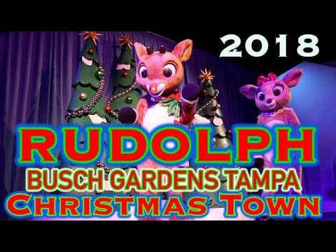 Christmas Town At Busch Gardens Tampa | Rudolph The Red-Nosed Reindeer's Wonderland & SANTA! 2018