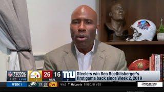 [BREAKING] Terrell Davis heąted Pittsburgh Steelers def New York Giants 26-16; Big Ben Comeback 3 TD