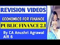 Public Finance ll Economics for finance ll Crash course llCA IPCC/INTER ll