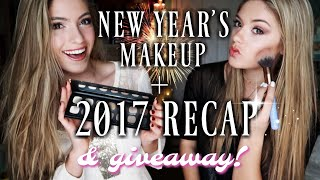NEW YEARS MAKEUP + 2017 RECAP + GIVEAWAY | Diamond Dixie