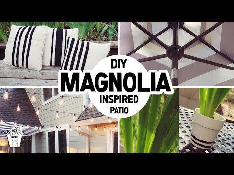 DIY FIXER UPPER MAGNOLIA INSPIRED PATIO MAKEOVER!