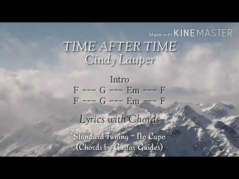 Time After Time (Lyrics with Chords) - Cindy Lauper