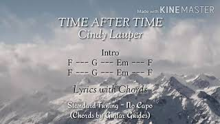 Time After Time (Lyrics with Chords) - Cyndi Lauper ft. Sarah Mclachlan