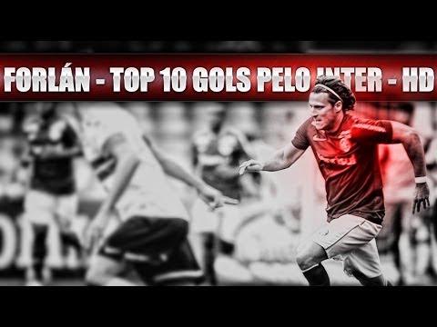 DIEGO FORLÁN - TOP 10 GOLS PELO INTER - HD