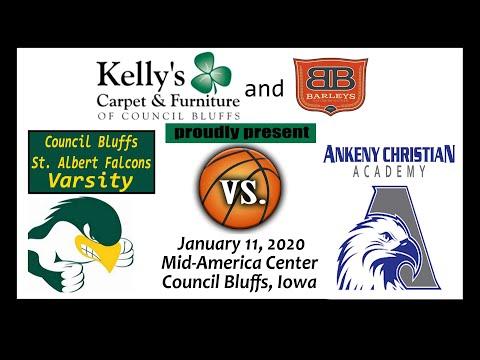 Co. Bluffs St. Albert Falcons Varsity vs Ankeny Christian Academy Eagles- MAC Shootout-Jan. 11, 2020