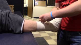 Ankle Horseshoe Pad and Compression Wrap