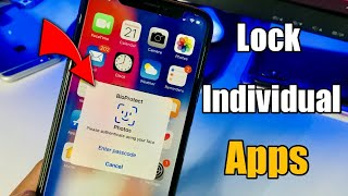 How to LOCK individual App in iPhone ( Use Face id or Touch id )