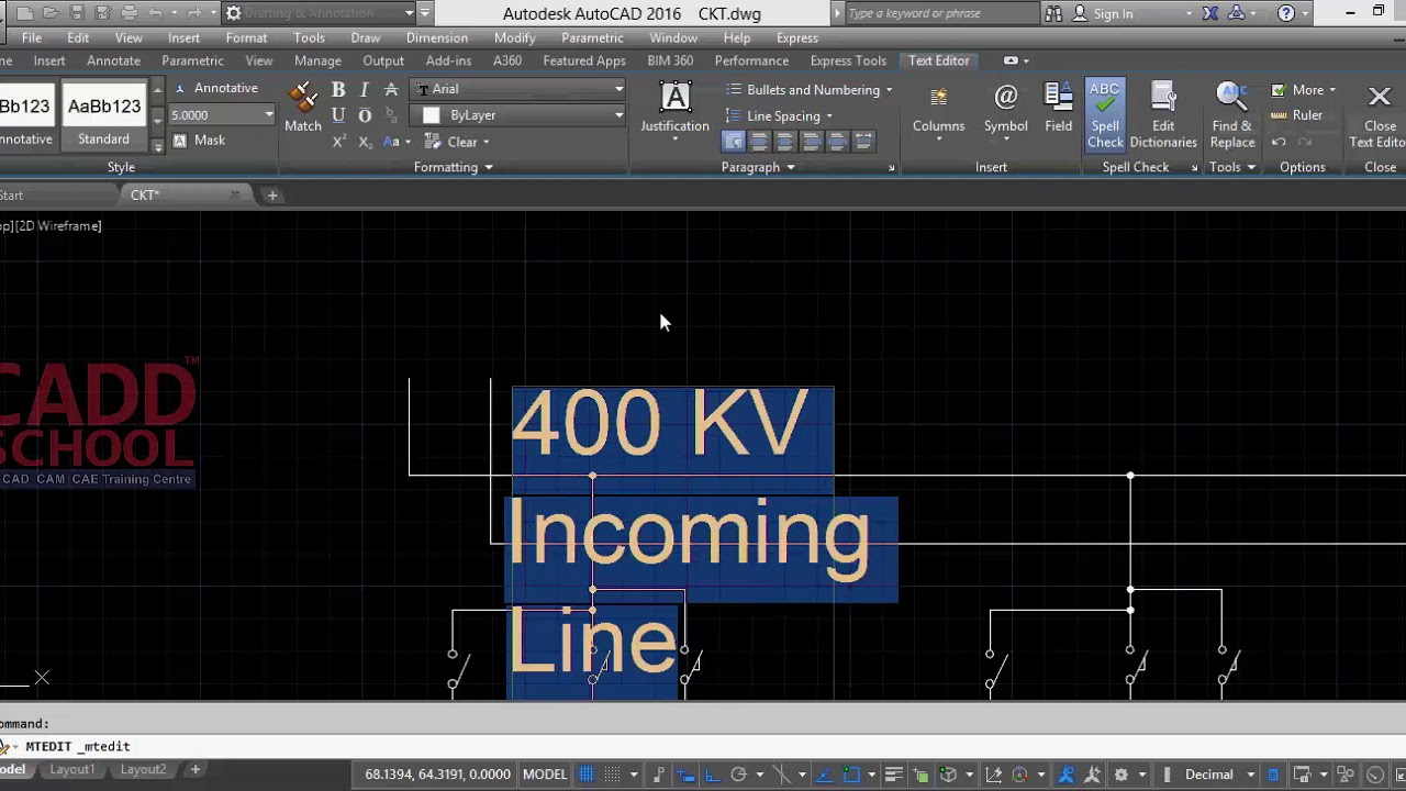 Autocad Electrical Tutorials - Single Line Diagram Part 2