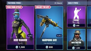 *NEW* REEF RANGER AND WRECK RAIDER SKINS!! + LASER CHOMP GLIDER!!?? | Fortnite: Battle Royale