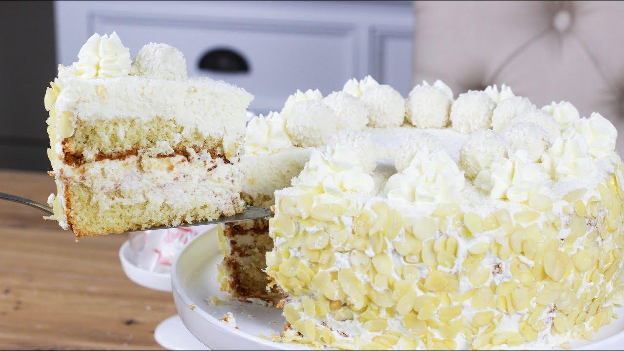 Raffaello Torte Leckere Kokos Torte Rezept Youtube