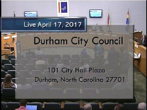 Durham City Council Apr 17, 2017
