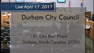 Durham City Council Apr 17, 2017