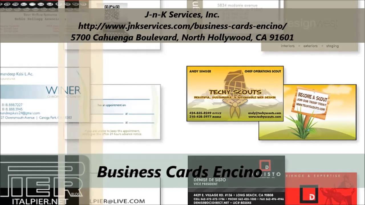 J n k business cards services in encino youtube j n k business cards services in encino colourmoves