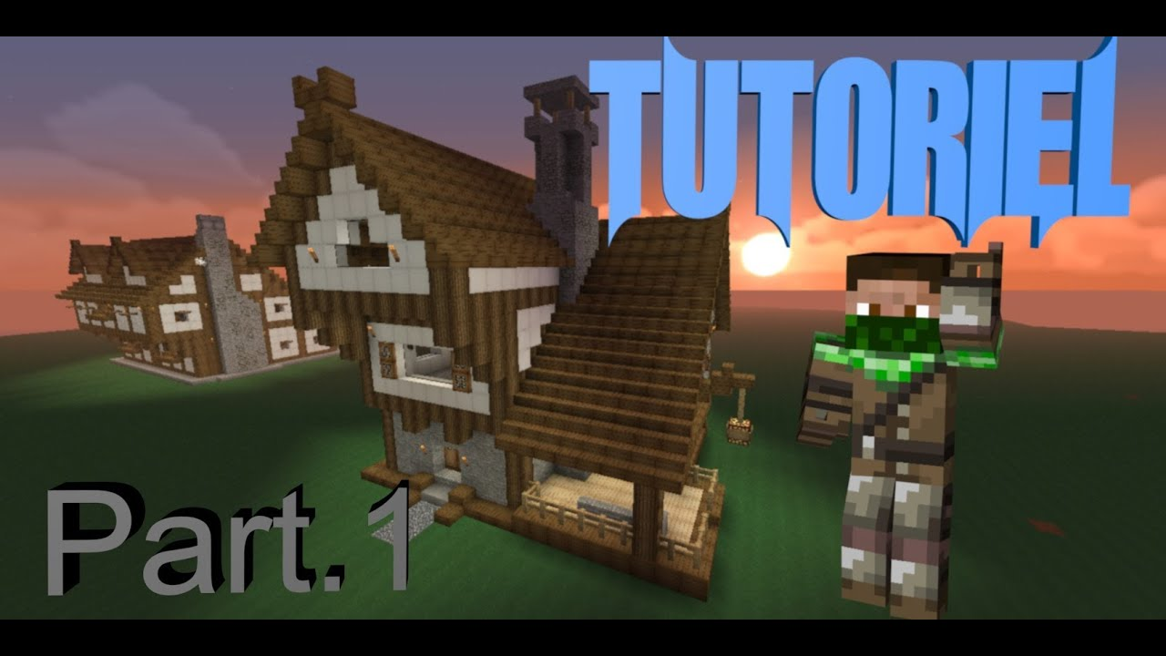 Trunks0o minecraft tuto maison m di val part 1 youtube - Tuto belle maison minecraft ...