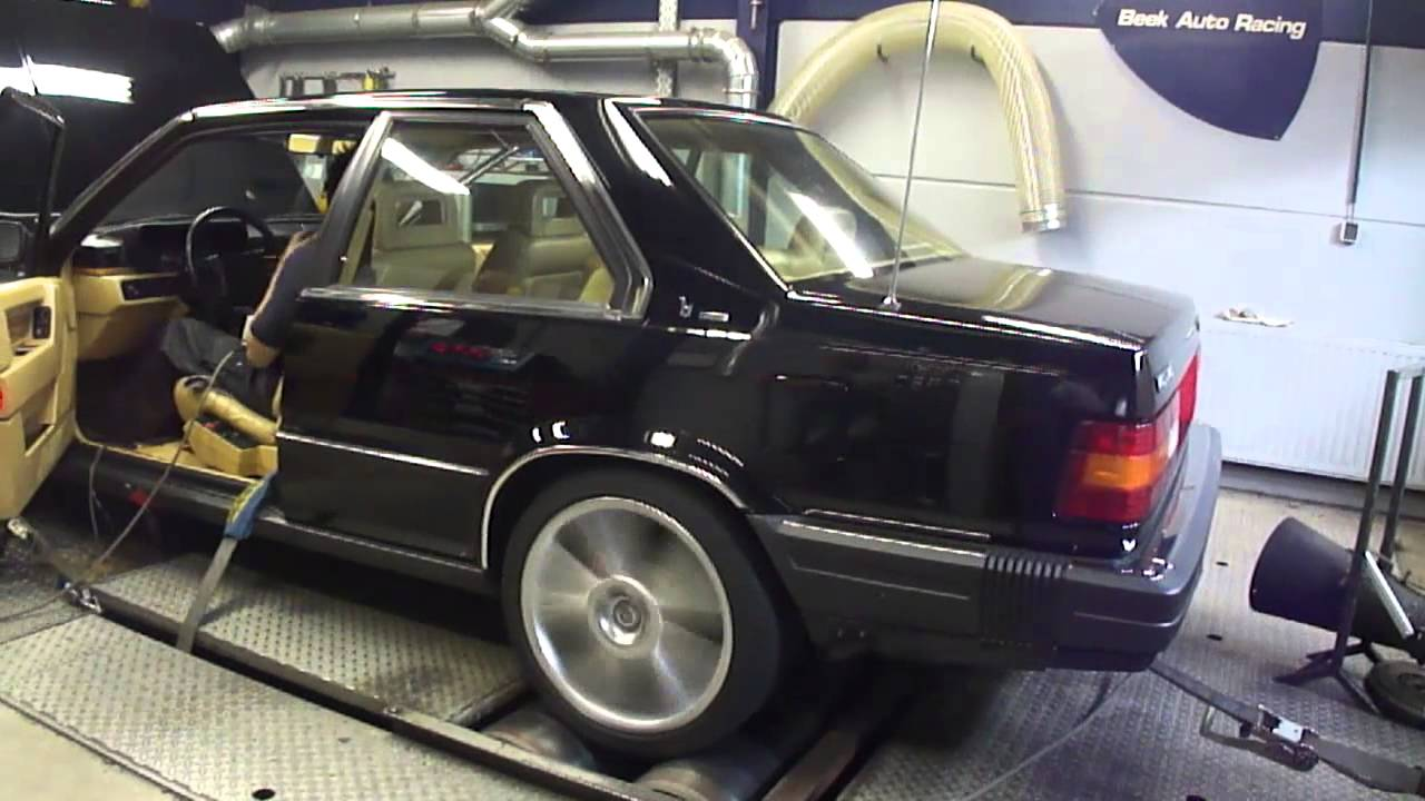 Volvo 780 Turbo Bertone - Dyno Run at Beek Auto Racing - YouTube