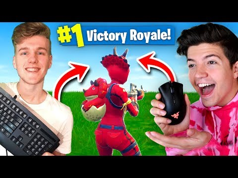 WORLDS FIRST WIN With SPLIT CONTROLS In Fortnite Battle Royale!