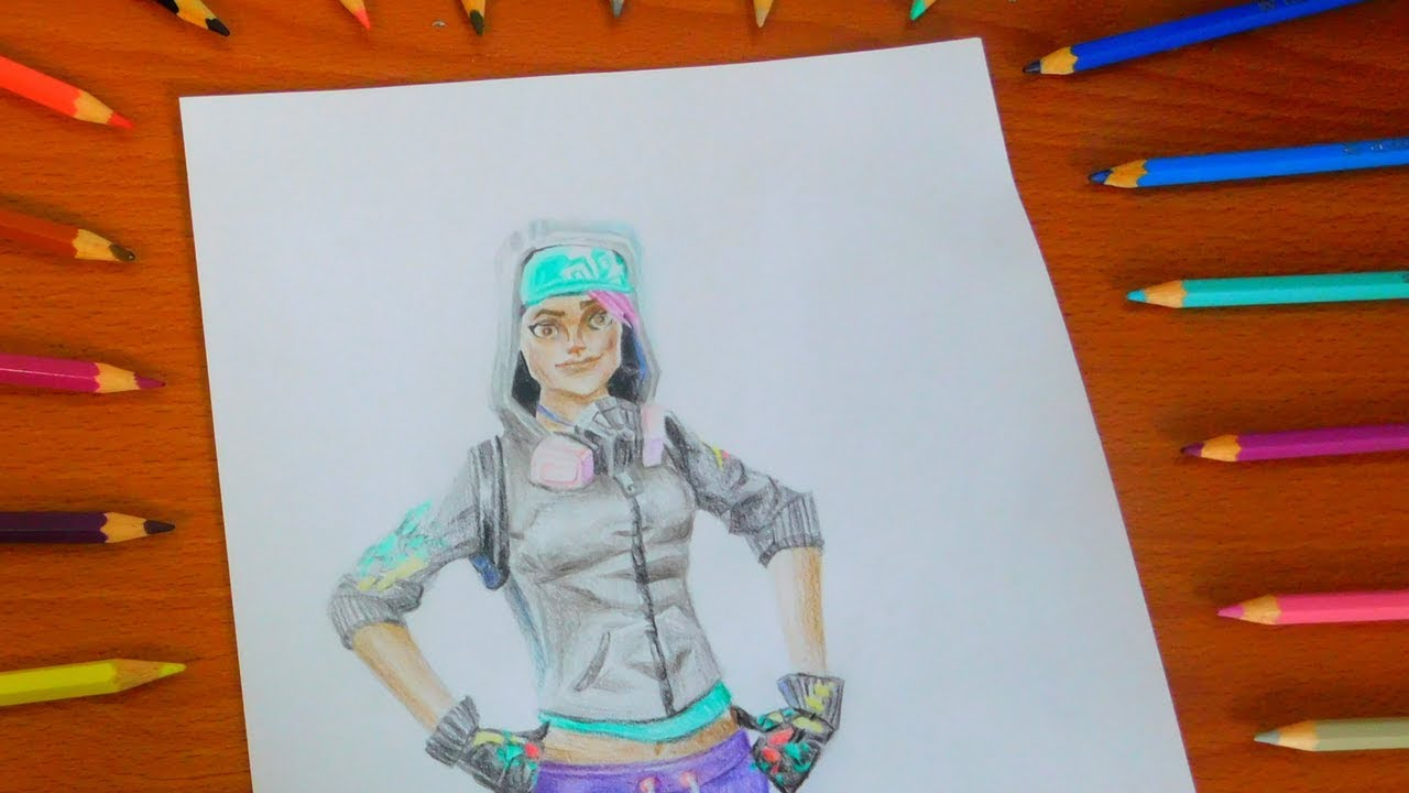Drawing New Teknique Skin Fortnite How To Draw Season 4