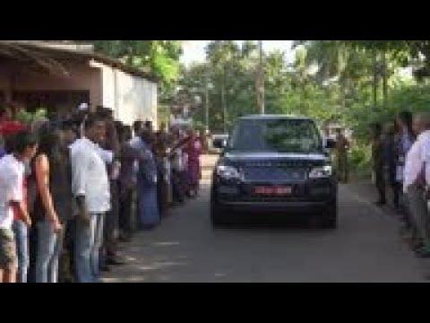 Opposition candidate Gotabaya Rajapaksa voting