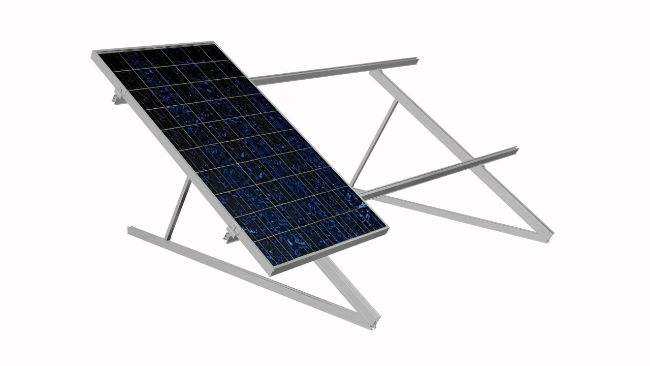 Tric F Flat Roof Solar Pv Mounting System Youtube