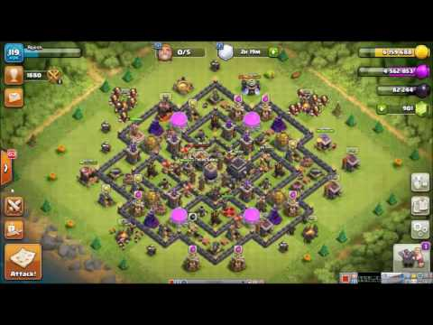 Clash of Clans : Town Hall 9 Giant Wizard Pekka (GiWiPe) Attacks Strategy