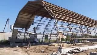 видео Особенности строительства арочных каркасных ангаров