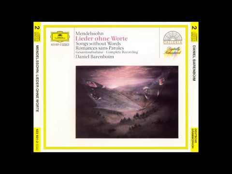 F. Mendelssohn/D. Barenboim (Songs without words, Complete)