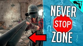 NEVER STOPPING ZONES - PUBG WTF Rules (PlayerUnknown's Battlegrounds)