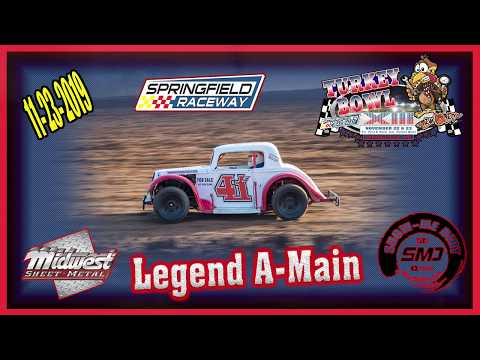 Legend A-Main Turkey Bowl Xlll Springfield Raceway 11-24-2019