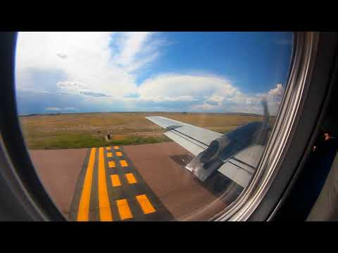 Taxi and Takeoff KPUB in Embraer EMB-120