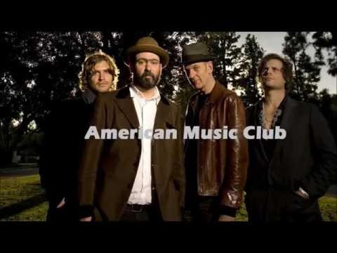 american music club - blue and grey shirt