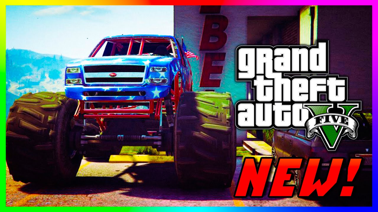 GTA 5 PS4 - Liberator Monster Truck Spawn Location In GTA 5 Story Mode!  (GTA V)