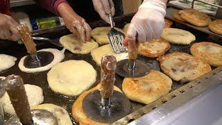 손에 모터달린  생활의달인 호떡집 - 34년동안 새벽밥 드시고 7시에 오픈  - 목동찹쌀호떡 / korean…