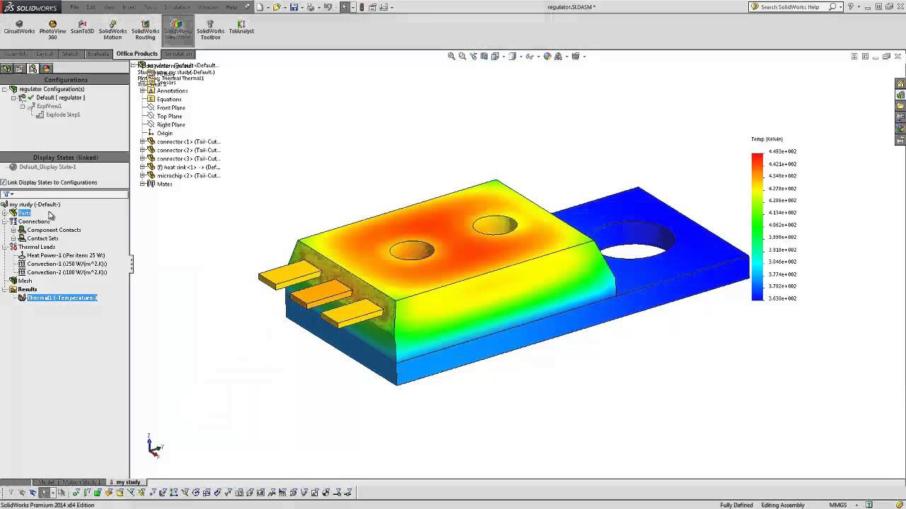 Solidworks Quick Tip Thermal Study Introduction Youtube