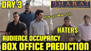 BHARAT BOX OFFICE COLLECTION DAY 3 | PREDICTION | AUDIENCE OCCUPANCY | INDIA | SALMAN KHAN | STRONG