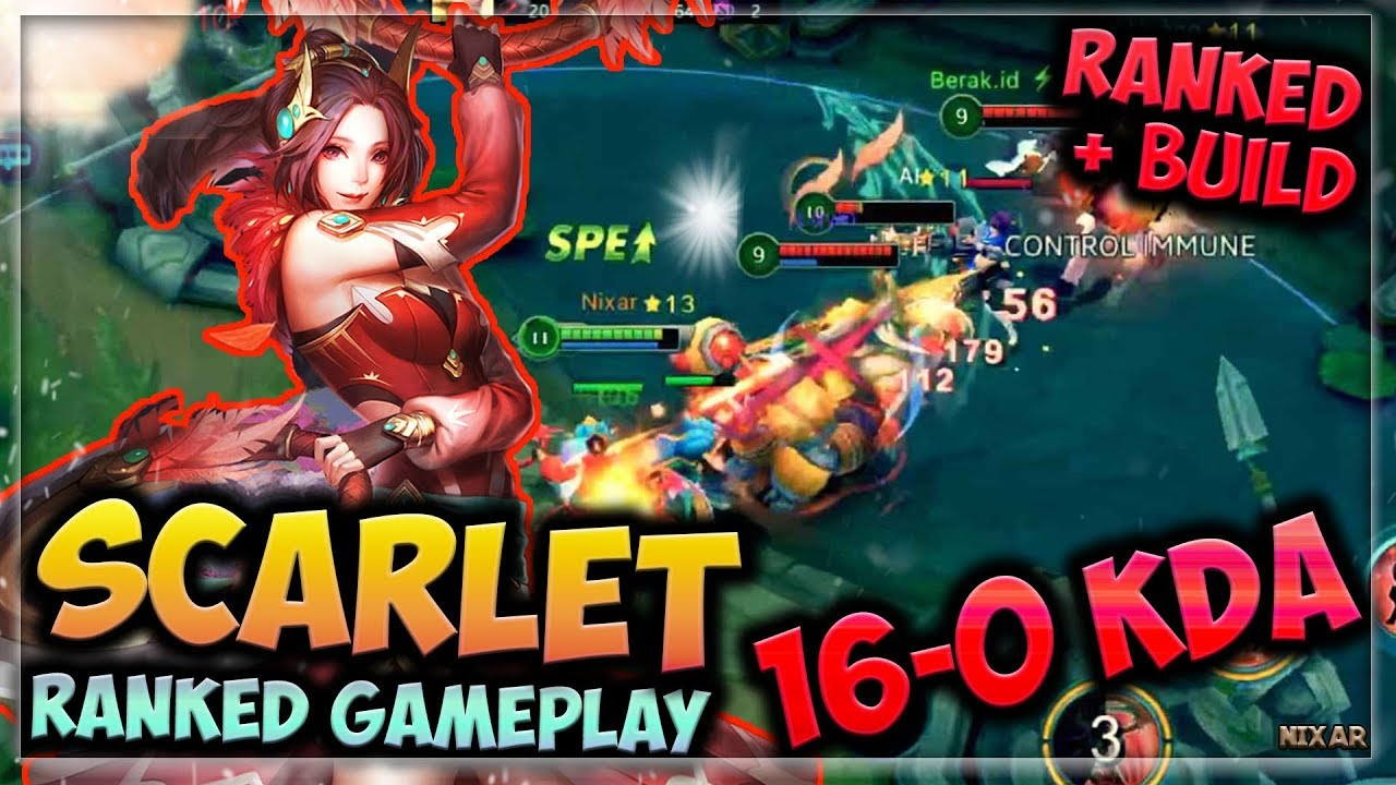 🎯FASTEST ASSASSIN EVER 16-0!!   HEROES EVOLVED - SCARLET BUILD   RANKED  GAMEPLAY   NEW HERO!!