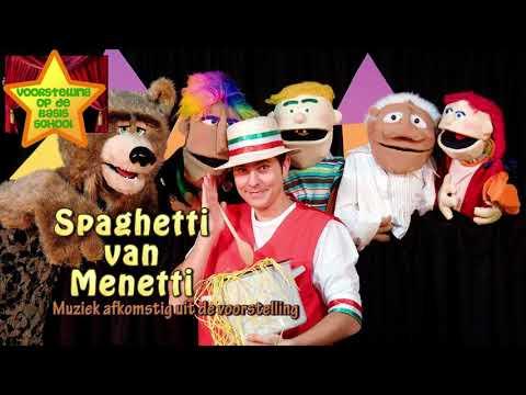 Voorstelling op school presenteert de kindertheatervoorstelling Spaghetti van Menetti'