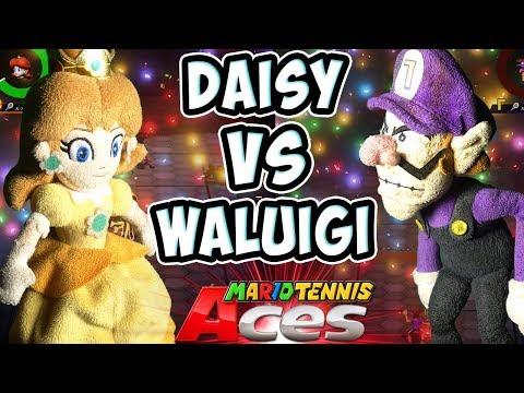 ABM: Daisy vs Waluigi !! Mario Tennis Aces Gameplay Match !! HD