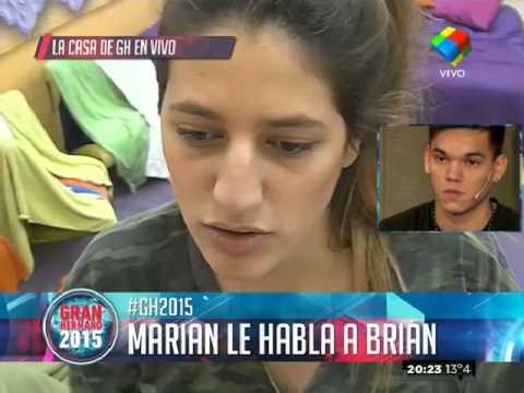 """""""Gran Hermano 2015"""": Marian le habló en vivo a Brian"""