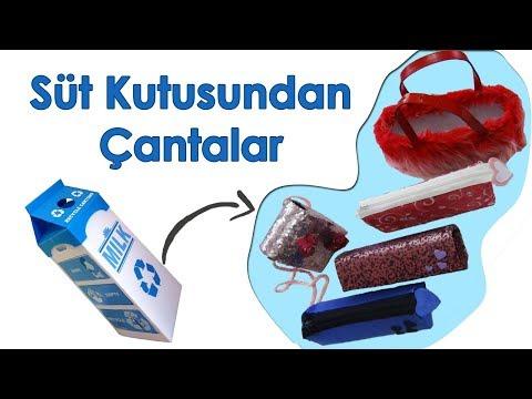 Süt Kutularından Portföy Çantalar | Pretty Handbags Made of Milk Case