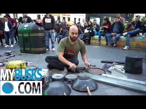Dario Rossi Drummer | Amazing street performer busking | MYBUSKS