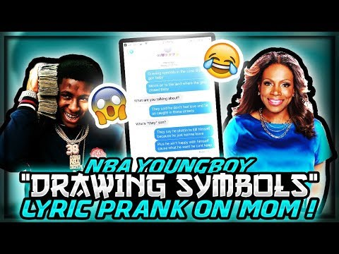 "NBA YOUNGBOY ""DRAWING SYMBOLS"" LYRIC PRANK ON MOM! SHE KICKED ME OUT!"