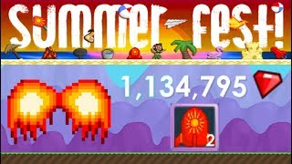 Growtopia - PHOENIX WINGS 1.000.000 GEMS ? (Summer Fest)