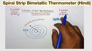 Spiral Strip Bimetallic Thermometer (Hindi)