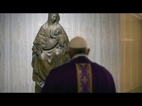 Pope Francis Celebrating Morning Mass At The Casa Santa Marta On Wednesday March 18th, 2020