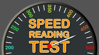 Speed Reading Test How Fast You Can Read