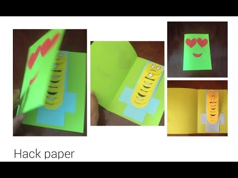 How to make emoji Pop up Card|Step by step|beautiful craft.