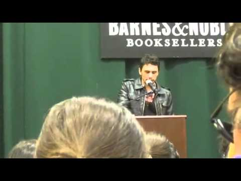 1of 2 - James Franco reads from his book 'Palo Alto' /Oct 20, 2010
